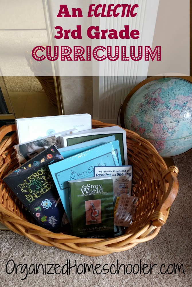 This 3rd grade curriculum covers all of the core curricula in an eclectic homeschool setting. Check out what we use for reading, writing, spelling, math, science, and history.