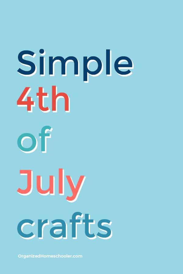 These simple 4th of July crafts take almost no time to prepare. They are the perfect way to entertain kids waiting for fireworks and 4th of July celebrations! #4thofJuly