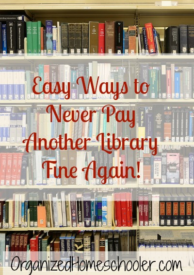 Avoid library fines with these quick and easy tips! I avoided library fines for an entire year!