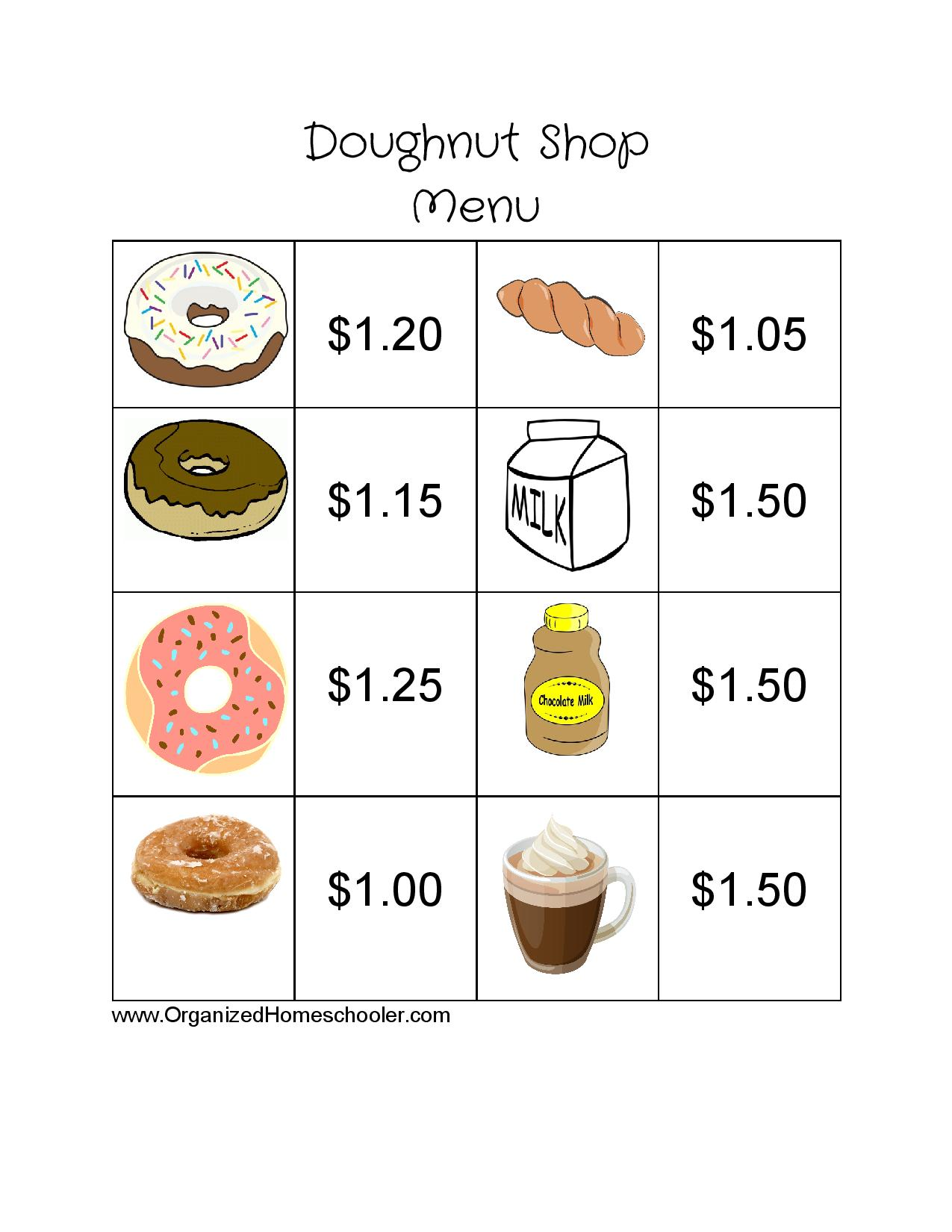 Doughnut Shop Menu -page-001