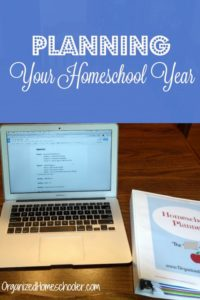 Planning your homeschool year is easy with a curriculum map. Here are step by step instructions to create a yearly homeschool plan.