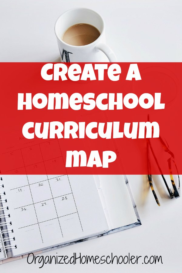 A homeschool curriculum map helps make sure you complete your curriculum. A little planning before the school year starts makes lesson planning easy. #curriculum