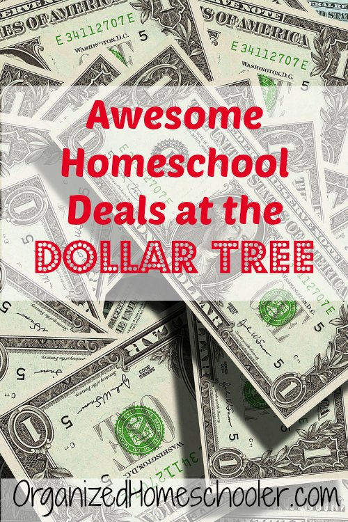 There are great deals for homeschoolers and classroom teachers at the Dollar Tree!