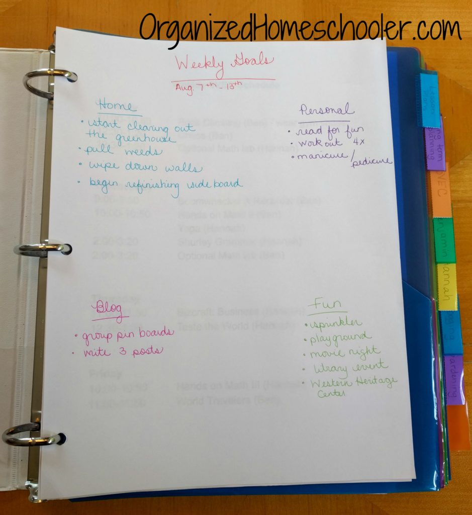 It is easy to create your very own customizable homeschool planner! One advantage of making your own homeschool planner is that you can totally customize it to include EVERYTHING you need!