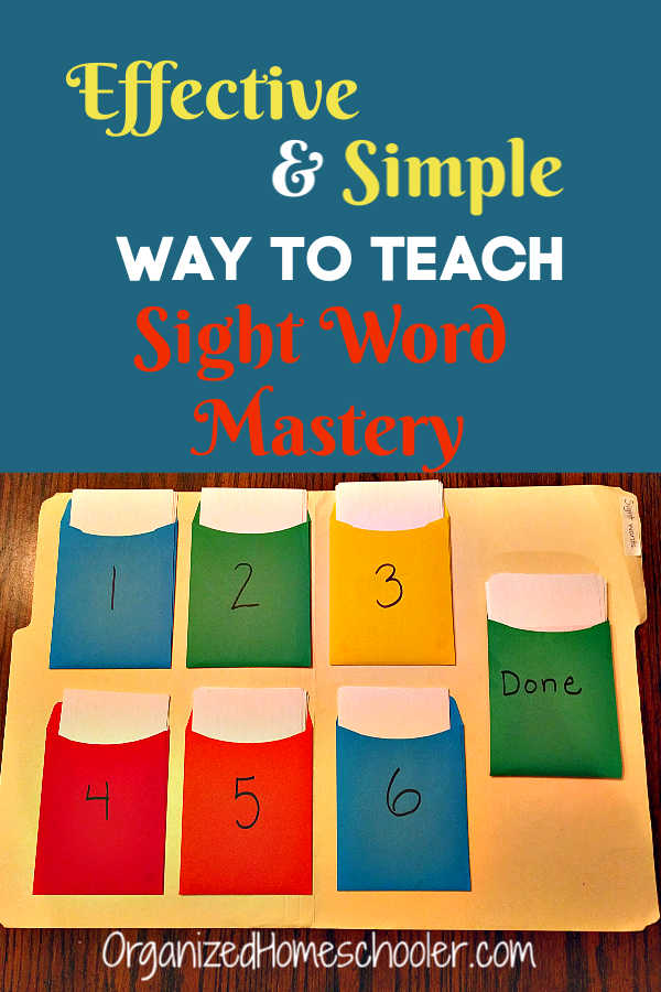 This is the easiest way to teach sight words at home. Help your kids master dolch sight words in just 10 minutes each day with this simple flash card method. There is even a free printable list and completion certificate.