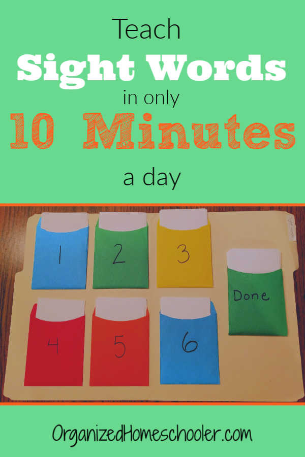 Teach sight words in only 10 minutes a day with this pocket folder technique! CLICK for this amazing technique + a FREE list of Dolch sight words + a FREE completion certificate!