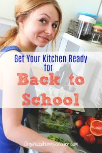 Get your kitchen ready for back to school time by stocking your kitchen with everything needed to make healthy meals quickly. #homeschool #backtoschool #mealprep