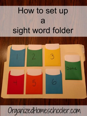 Find out how to set up a sight word folder. This is the best way to teach sight words. It will help your child master sight words.