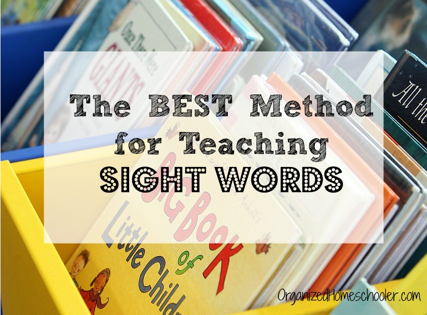 Wondering how to teach sight words? This is the best method to teach sight word mastery in just 10 minutes each day.