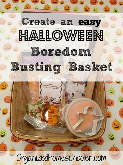 This Halloween boredom basket is a great way to entertain kids leading up to Halloween. They might even learn something!