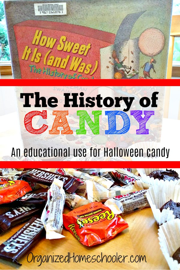 Check out these history of candy activities. These educational activities are the perfect use for leftover Halloween candy. #organizedhomeschooler #Halloween #candy #halloweenactivity #halloweenlessonplan