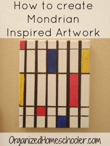 This looks like a fun way to introduce Mondrian artwork. We love painting projects!