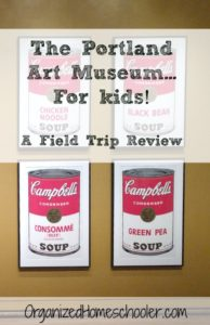 The Portland Art Museum is a great place for an art field trip! Check out the free printable art museum scavenger hunt!