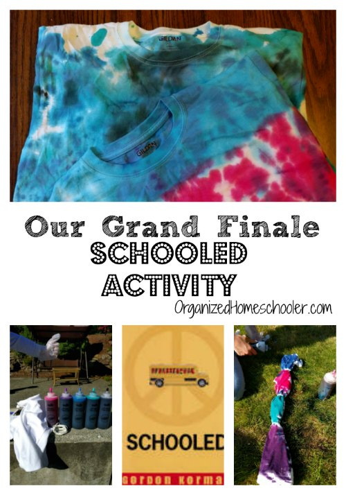Tie-dying is the perfect Schooled activity! I can't wait to read this book with my kids!