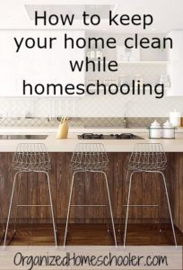 "Check out this ""secret weapon"" for keeping a home clean while homeschooling!"
