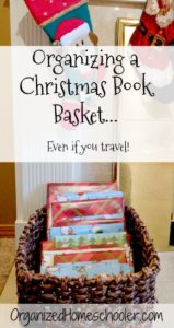 This is everything you need to know about starting a Christmas book basket tradition! There are even tips on managing it if you travel!