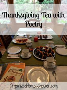 Thanksgiving Tea with Poetry is a fun way to get celebrate Thanksgiving!