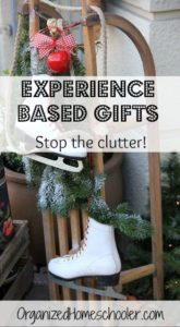 Experience based gifts are a fantastic way to stop the Christmas clutter!