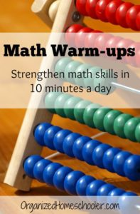 Math warm-ups are a great way to strengthen math skills in just 10 minutes a day!