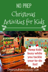 These no prep Christmas activities for kids are sure to keep them busy and happy while you tackle your Christmas to-do list.