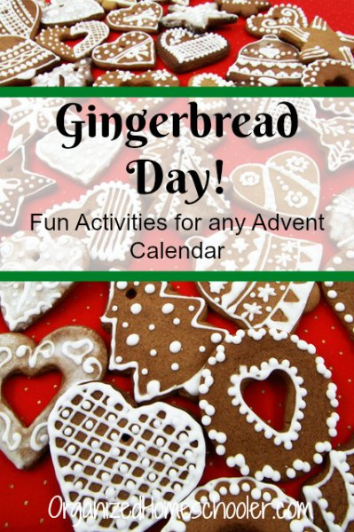 Gingerbread Day is one of our favorite Advent Activities. Read a story, decorate gingerbread, and a few gingerbread crafts. This will get you ready for Christmas in no time!