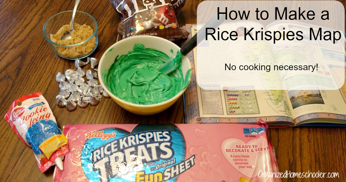 How to make a Rice Krispies Treat map! No cooking necessary!