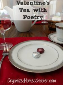 Valentine's tea with poetry is a wonderful way to expose your kids to poetry in a fun setting.