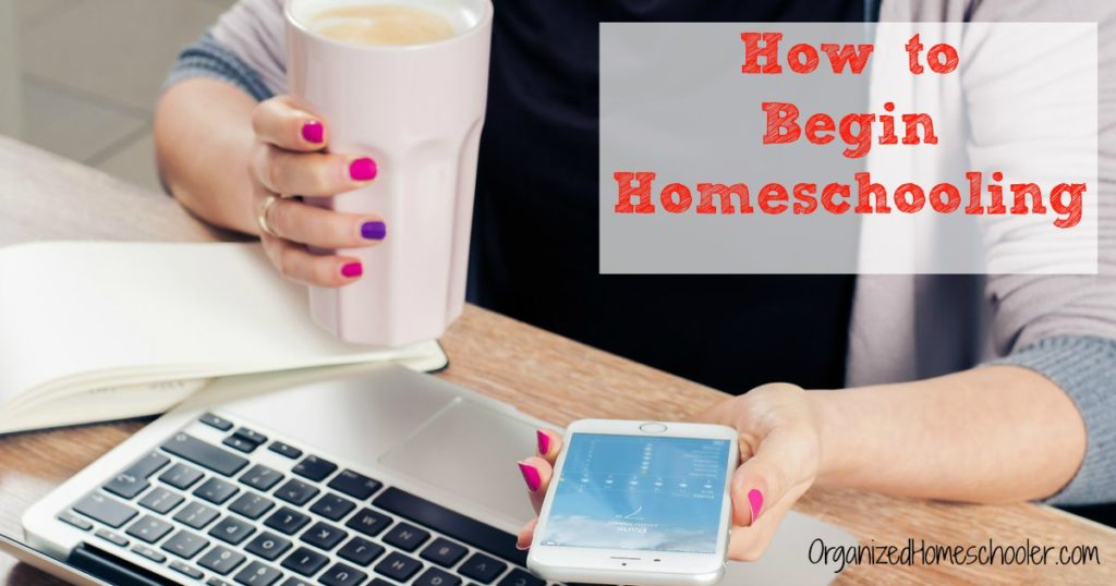 A new homeschool mom is researching how to begin homeschooling while drinking cofee.