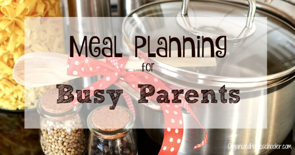 Meal planning is crucial for homeschool parents. Busy parents need meal planning to help them serve healthy meals and avoid the drive through on busy nights.