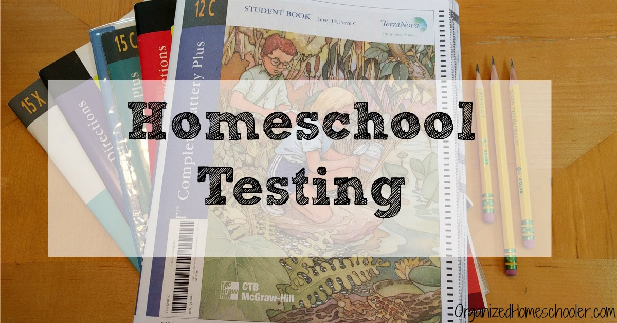 Homeschool testing is necessary in many states. It really isn't so bad.