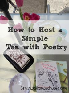 Hosting a simple tea with poetry is super easy with these tips.