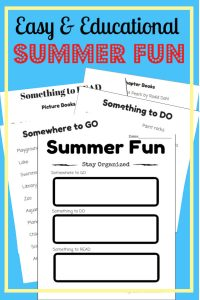 This free summer planning printable will help you find balance this summer. The activity, field trip, and reading suggestions are sure to help make summer memories. Kids will love these awesome ideas.