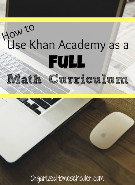 How to use Khan Academy as a full math curriculum. Khan Academy is a free math curriculum. It is perfect for homeschool math lessons.