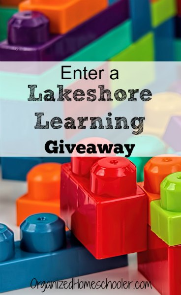 Enter to win a Lakeshore Learning e-gift card!