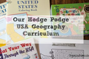 This USA geography homeschool curriculum is fun and educational. Teach geography through games, mazes, maps, food, and good books. Kids will actually enjoy learning US geography.