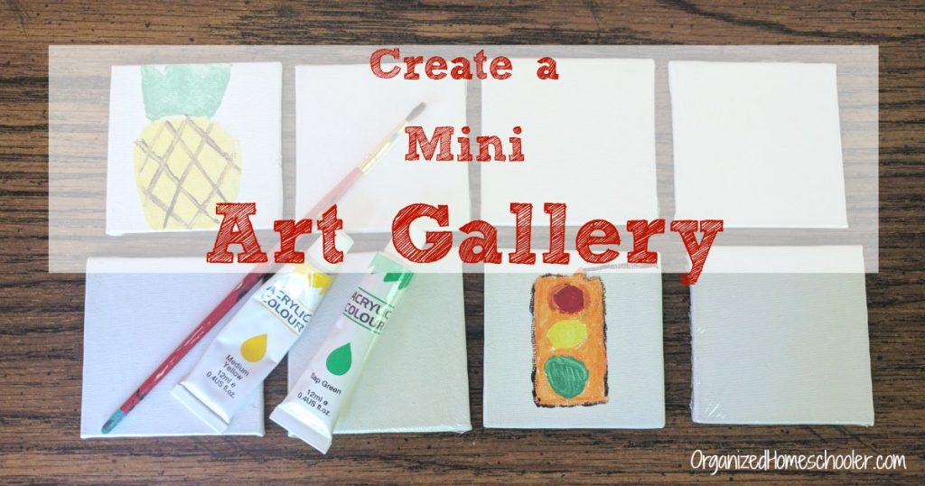 A miniature art gallery is perfect for small spaces. It is a great craft project for kids.
