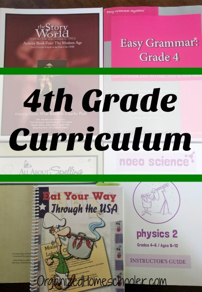 4th Grade Curriculum The Organized Homeschooler