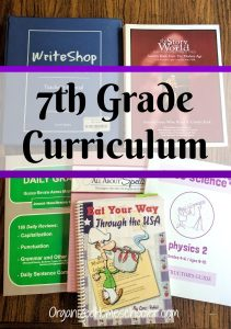Our 7th grade homeschool curriculum contains plans for language arts, math, history, and science, with a bit of fun thrown in.