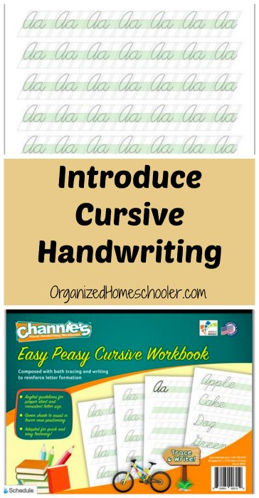 Introduce cursive handwriting with Easy Peasy! #cursive