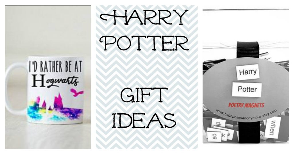 Harry Potter gifts for kids ideas include a Hogwarts mug and poetry magnets.