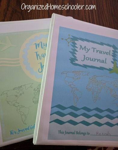 Let's Go Geography is a homeschool geography curriculum for k-4th. These travel journals are a great way to organize world geography lessons. #homeschoolgeography