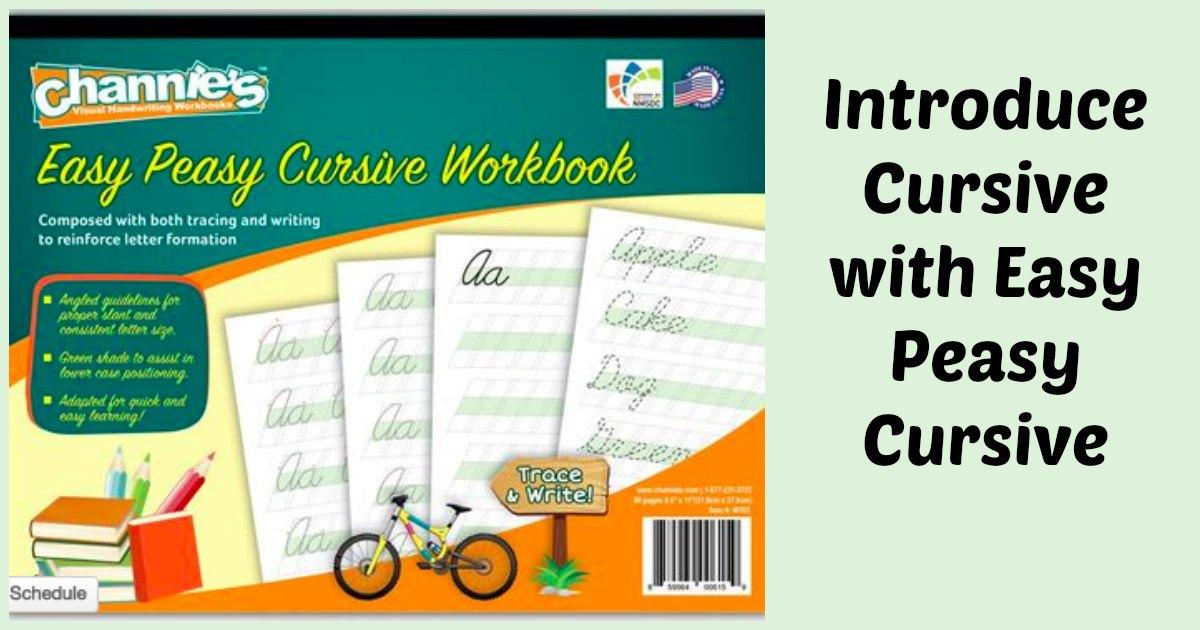 Introduce cursive with Easy Peasy Cursive. #cursive