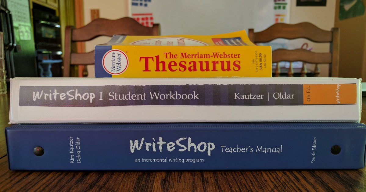WriteShop is a homeschool writing curriculum that teaches writing in a logical manner. Check out why I chose WriteShop.