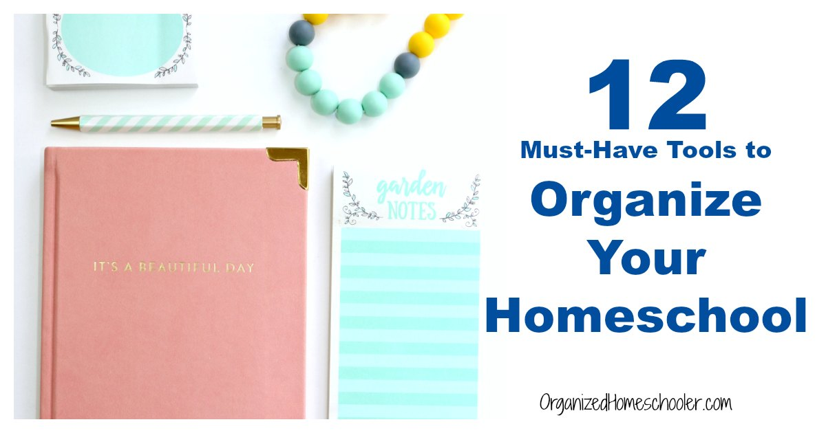 These must-have tools are sure to get your homeschool organized. #homeschool #organization