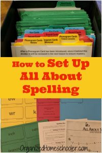 It is easy to set up All About Spelling with this step by step guide. #Spelling #curriculum #homeschool #AllAboutSpelling