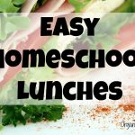 Easy Homeschool Lunches