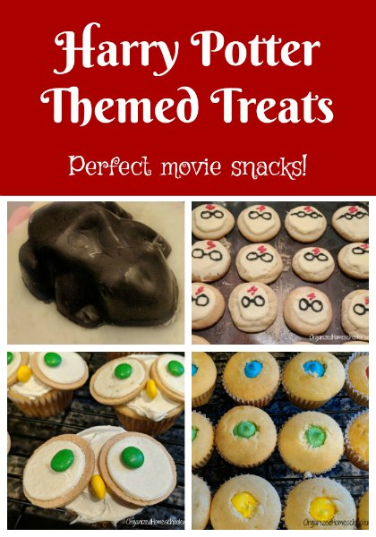 These Harry Potter themed treats are the perfect snack to accompany the Harry Potter movies.