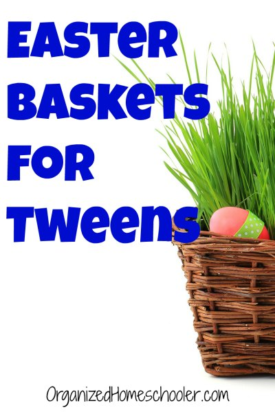Easter baskets for tweens the organized homeschooler these easter baskets for tweens are full of fun and practical easter gifts negle Gallery