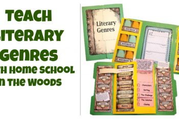 The Home School in the Woods Literary Genres lapbook is a great way to teach literary genres to hands on learners.
