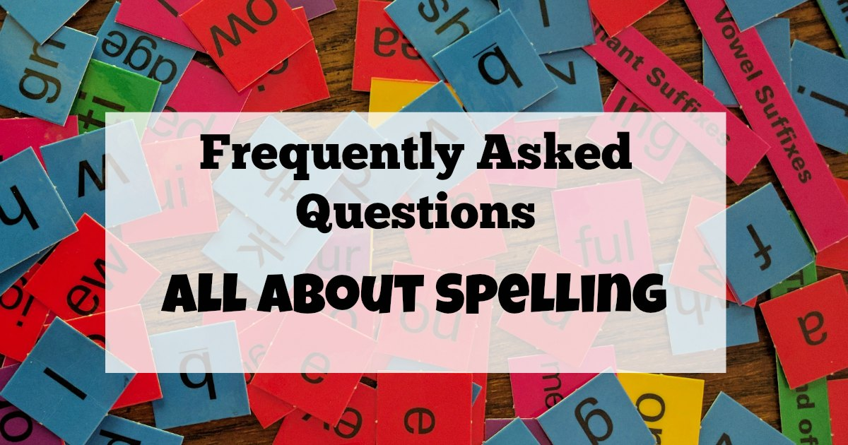 Check out these frequently asked questions about All About Spelling. It is a fantastic homeschool spelling curriculum.